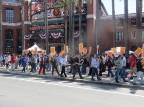 Sf Giants Park picketing