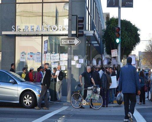 Tenants protest at Association of Realtors