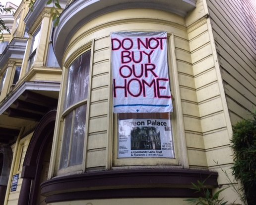 "Tenants in the ""Pigeon Palace"" at 24th and Folsom reflect the fears that have spawned push for housing moratorium"