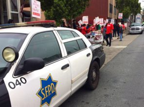 photo by NUHW. SF Cops Called to Peaceful Picket.