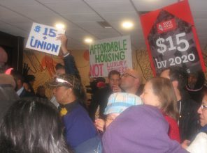 Inside SF McDonald's at 11/10 Fight for $15 protest