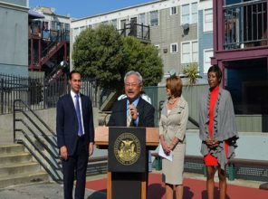Mayor Lee announcing dramatic strategy to save and revive SF's public housing