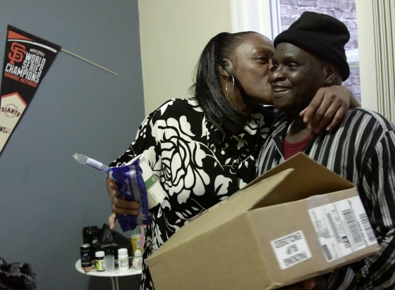 A homeless veteran moves in to SF supportive housing