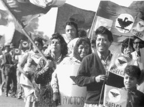 Cesar Chavez leads the 300 mile 1966 march from Delano to Sacramento