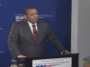 U.S Transportation Secretary Anthony Foxx spoke at the Center for American progress today about the highway system's legacy of discrimination. Image: CAP