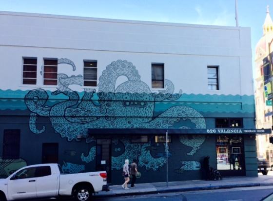 Octopus looms over new 826 Valencia Tenderloin Center