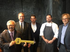 Mayor Lee was given key to the Black Cat by owners and chef