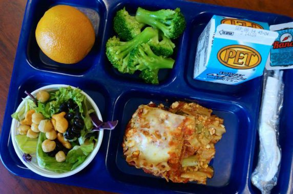 A scratch cooked lunch served in Greenville schools