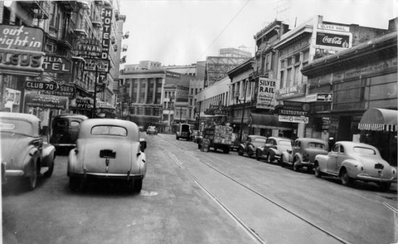 Lower Turk in 1944. The Silver Rail, then an underground gay bar, is on the right.