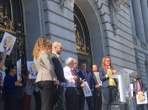 CHP's Gail Gilman speaks at Rally for Yes on J and K