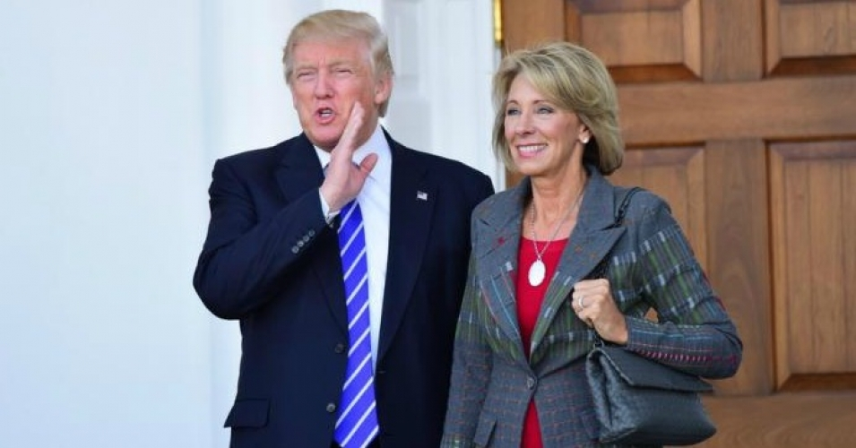 President-elect Donald Trump and his pick for Education Secretary, Betsy DeVos. (Photo: Shutterstock)