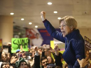 On January 28, Sen. Elizabeth Warren rallied crowd at Boston's Logan Airport protesting Trump's muslim ban