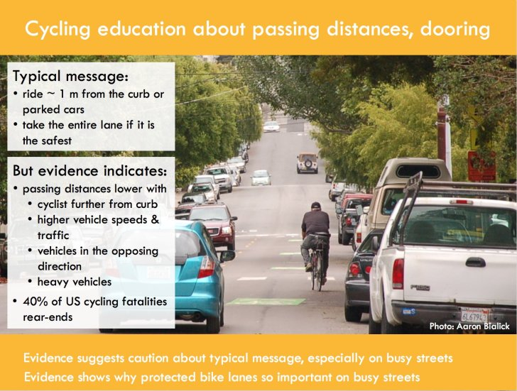 Are cycling training courses giving people good advice? Graphic: Kay Teschke