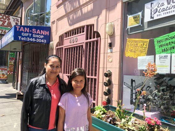 Juana Campos with her daughter