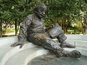 The Albert Einstein Memorial in Washington, DC. (Photo by Bernt Rostad/ flickr CC 4.0)