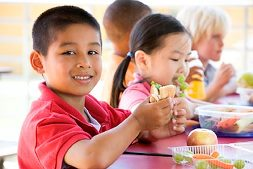 Children-Eating-National-School-Lunch-Program